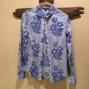 Boden Classic Blue Flower Button Down Shirt